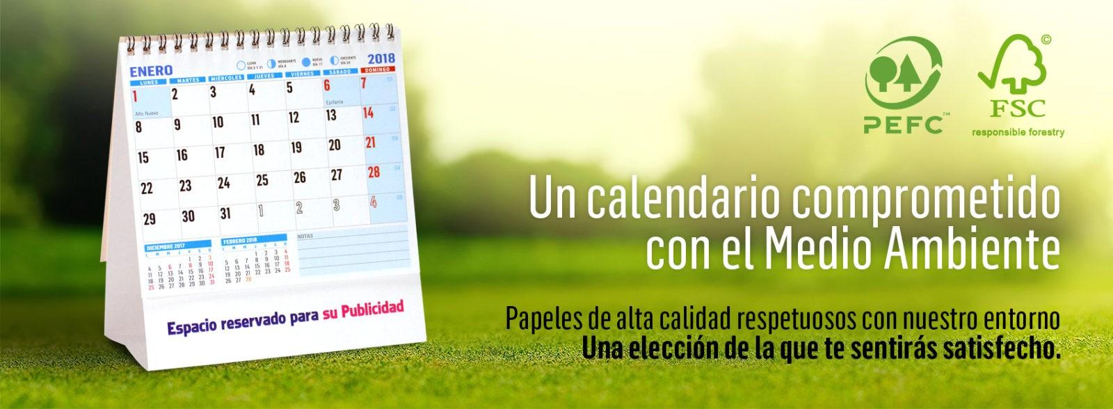 Calendarios comprometidos con el Medio Ambiente