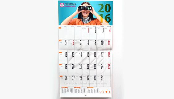 Calendario pared grapado
