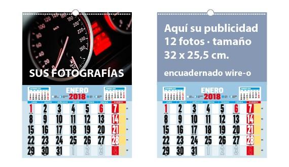 calendario de pared wire-o