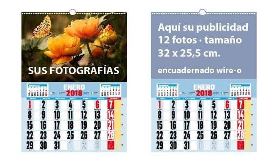 calendario vertical pared wire-o