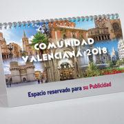 portada calendario sobremesa Comunidad Valenciana