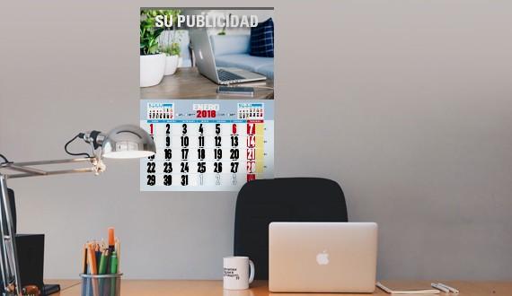 Calendario pared varilla