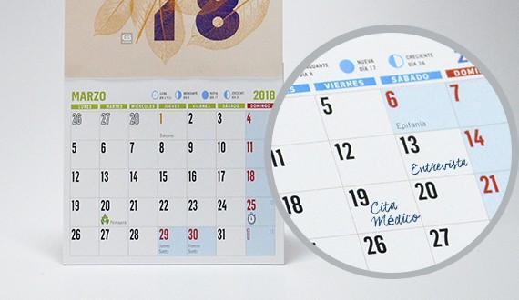 Ampliación calendario