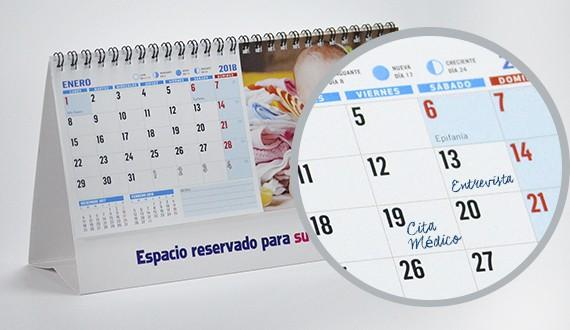 calendario personalizado modelo S notas
