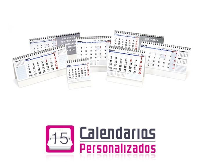 Familia de calendarios con notas y logotipo de la empresa