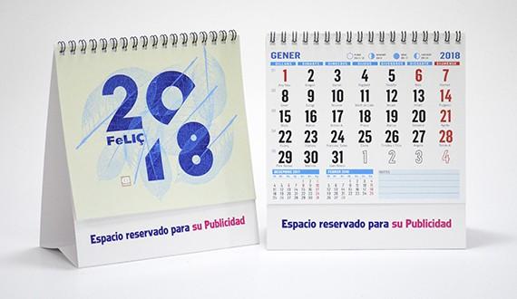 Calendario sobremesa 2018