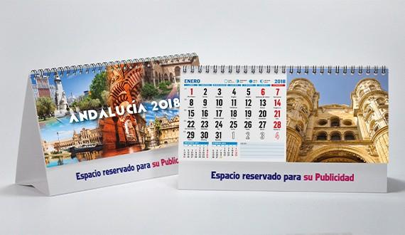 Calendario con fotos de Andalucía doble cara