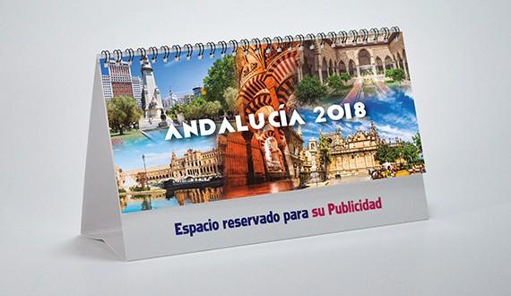 Portada calendario personalizado sobremesa Andalucía