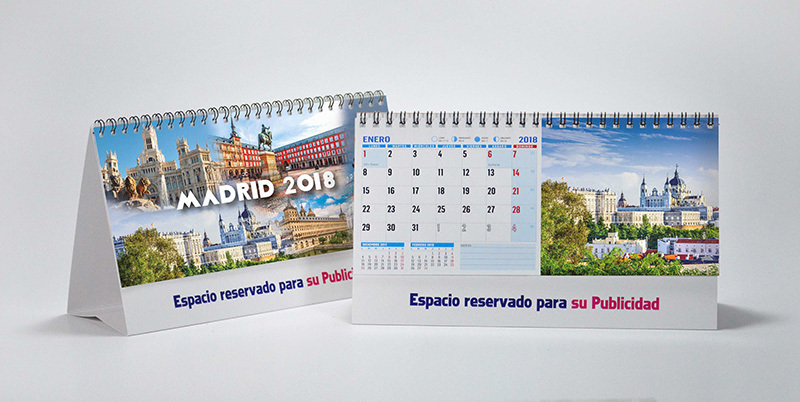 calendario con fotos de Madrid de sobremesa