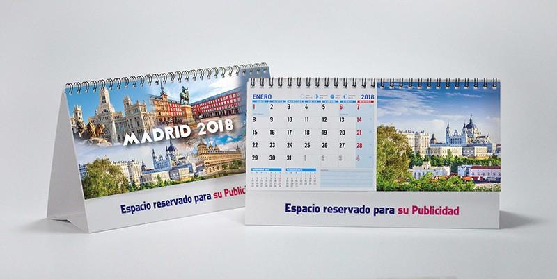 calendario con fotos de Madrid de sobremesa