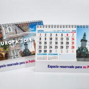 Calendario personalizado doble de Europa