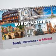 Portada calendario con fotos de Europa