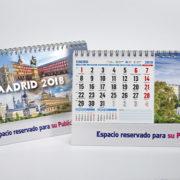 Interior y portada calendario motivos Madrid