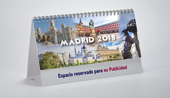 Portada calendario Madrid motivos sobremesa