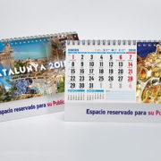 interior y portada calendario motivos sobremesa Cataluña