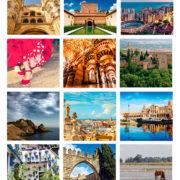 Andalucía fotos variadas calendario motivo sobremesa