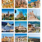 fotos interior calendario sobremesa motivos Cataluña