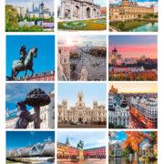 fotos variadas Madrid calendario sobremesa