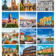 fotos variadas interior calendario sobremesa Europa