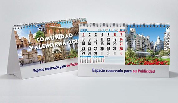 calendario con fotos de la Comunidad Valenciana de sobremesa