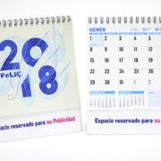 calendario en catalán de sobremesa