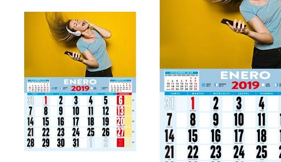 calendarios ofertas 2019