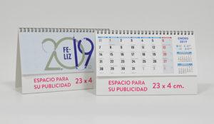calendario de sobremesa de Madrid con festivos