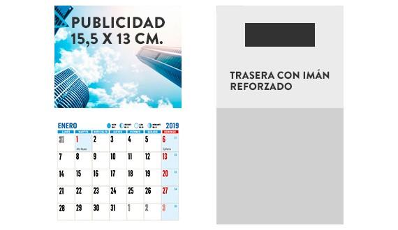 magnetico calendario 2019
