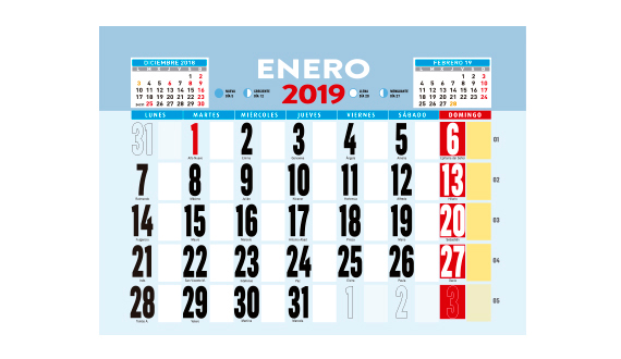 2019 oferta calendario