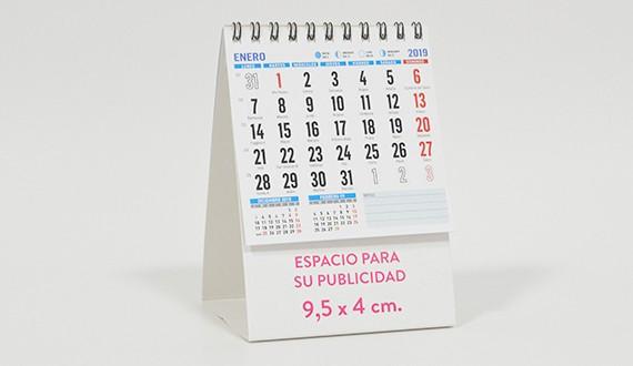 sobremesa calendario 2019