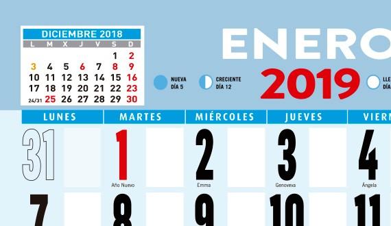calendario pared oferta