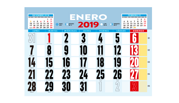 calendario pared varilla 435