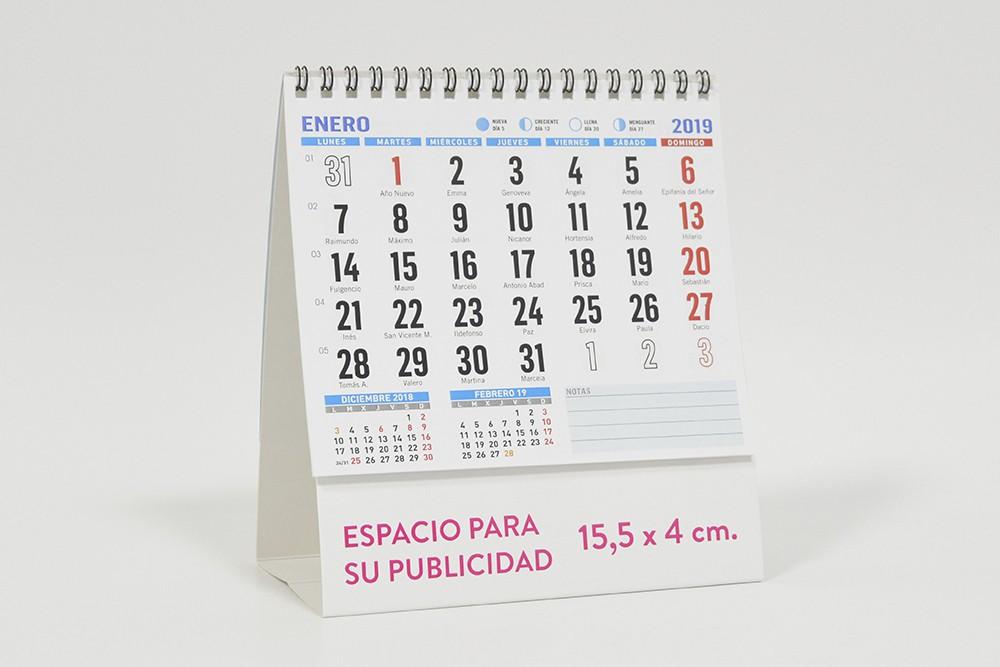 calendario sin notas sobremesa