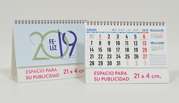 calendario sobremesa personalizado 2019