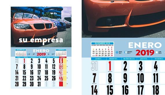 2019 calendarios personalizados