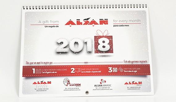 encuadernado calendario personalizado