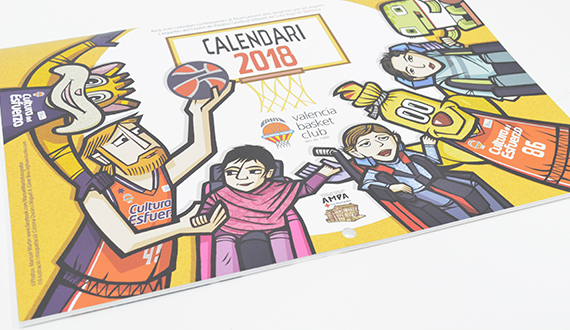 valencia basket calendarios 2019
