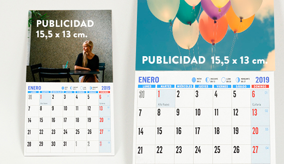 nevera calendario 2019