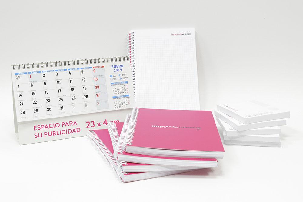 pack de calendarios y libreta