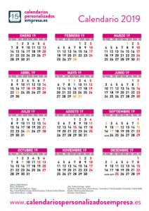 calendario 2019 festivos nacionales