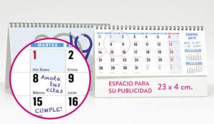 calendario de sobremesa Madrid