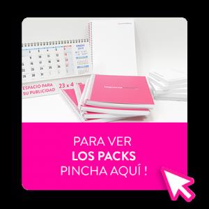 calendario y libreta pack