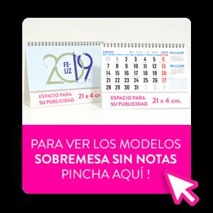calendario de sobremesa promocional