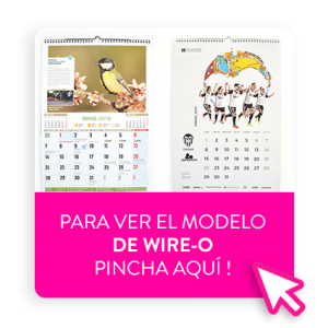 calendario de pared personalizado grapado