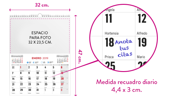 wireo faldilla calendario