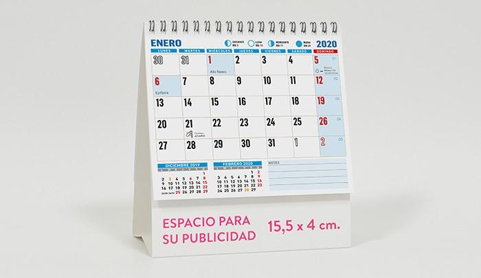 Calendario Impuestos 2020.Calendarios De Sobremesa Personalizados Para Empresas