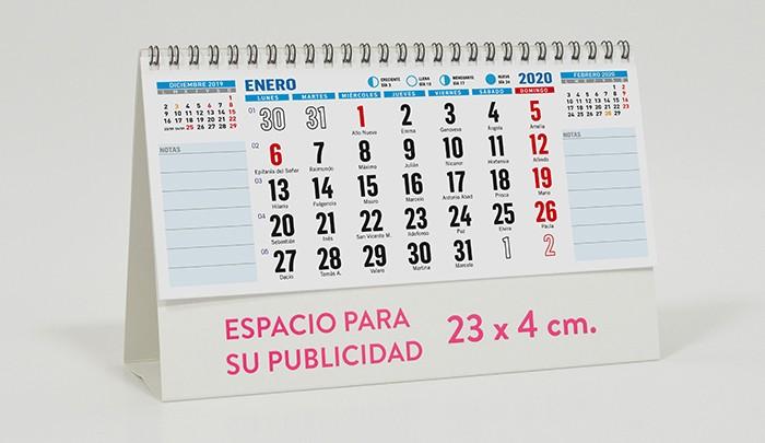 Calendario Iva 2020.Calendario Sobremesa Notas Calendarios Personalizados