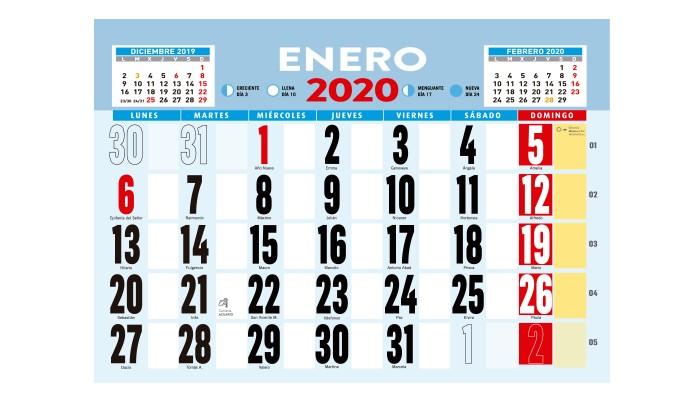Calendario Iva 2020.Calendario De Pared Con Varilla Calendarios Personalizados