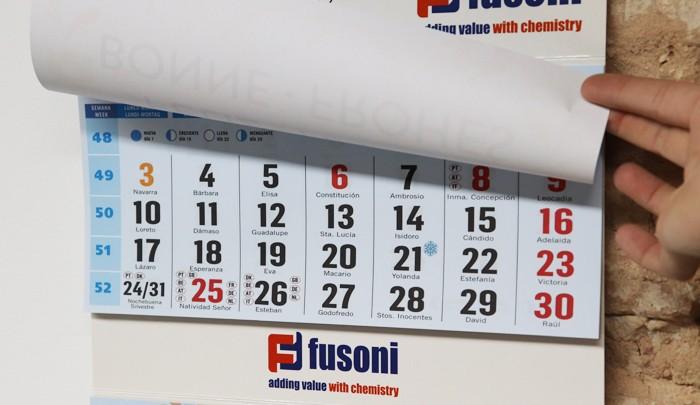 Faldilla calendario